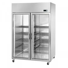 commercial refrigerator upright cabinet 1200 litres glass doors stainless steel ventilated adexa gn1200tnvg