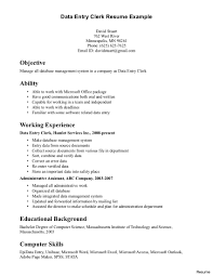 Samples Of Clerical Resumes Sample Clerical Resume Entry Levelfice Clerk Templates General For 21