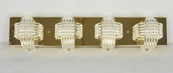 mid century modern sculptural lucite and brass vanity light 2