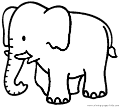 Coloring Page Elephant Only Coloring Pages