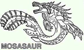 Mosasaur The Myth Sea Monster Coloring Page Kids Play Color