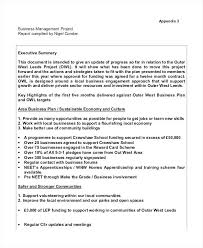Business Management Project Report Template New Plan Proposal Sample ...