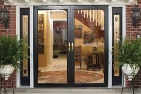 interior exterior glass doors in