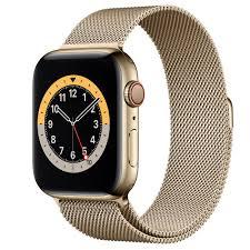 Apple Watch Series 6 GPS + Cellular, 44 mm Edelstahlgehäuse Gold, Milanaise  Armband Gold - Apple (DE)