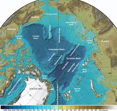 Ocean Depth Chart Arctic Ocean Seafloor Map Depth Shelves Basins Ridges