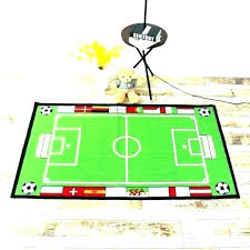 large football field area rug living tufted green