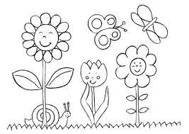Disegno Di Fiori Da Stampare Gratis E Da Colorare Bambini Scuola