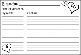 Recipe Cards Templates Recipe Card Templates 4x6 Rome Fontanacountryinn Com