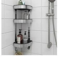 ikea brogrund shower rack stainless