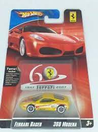 The vehicle is rosso fiorano with a beige full leather. Hot Wheels Ferrari Racer Series 360 Modena 60 Years 1 64 Shipped From The Usa Ebay
