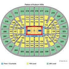 Auburn Seating Chart With Rows Seating Charts Insidearenas Com