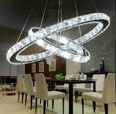 chandelier light for living room modern minimalist restaurant living room crystal lamp circular led chandelier creative round crystal light decorative