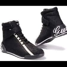 gucci shoes black and white. authentic gucci hi-top sneaker sz 46 (men\u0027s 12) classic gg canvas print gucci shoes black and white