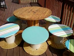 sis dyi deck furniture from spools