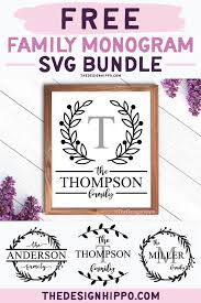 1 zip file which includes monogram letters are not included in this listing. Free Family Monogram Svg Bundle Of 4 Cut Files For Cricut