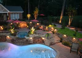 backyard outdoor landscape lighting