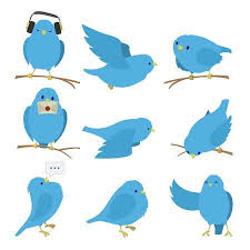 blue bird clipart.  Clipart Blue Birds Set Isolated On White Background Illustration Inside Bird Clipart D