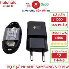 Bộ sạc nhanh Samsung 15W S7 S8 S9 S10 Note 8 9 10 công nghệ sạc nhanh 2.0 -  Chính hãng bảo hành 12 tháng