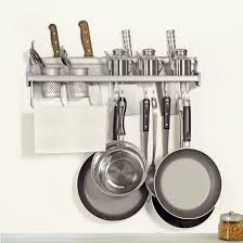 Kitchen Rack Plumeet Multifunctional Aluminum Wall Hanging Kitchen Rack With