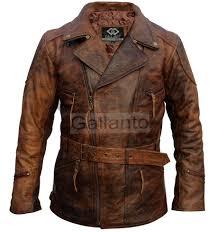 3 4 ed brown vintage motorcycle biker jacket