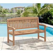 5 ft natural teak wood outdoor bench