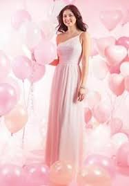 Details About Alfred Angelo 149 Loves First Blush Pink 10 Bridesmaid Mob Formal Chiffon Dress