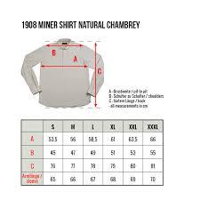 Pike Brothers 1908 Miner Shirt Natural Chambrey Lipstick