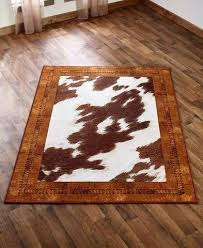 black and brown area rugs cowhide spot look rugs nonskid black brown white country western home