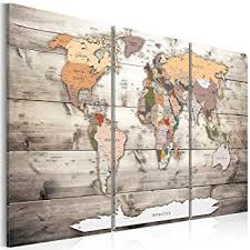 world map wall art uk