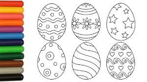 easter egg coloring. Contemporary Coloring Coloring Pages Easter Eggs Video For Kids And Egg R
