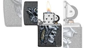 <b>Зажигалка Wolf Skull</b> Feather Design <b>zippo</b> 29863 купить в ...