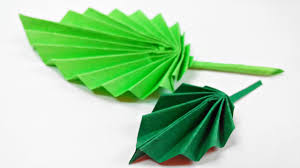 Design Craft Origami Leaf Paper Leaves Diy Design Craft Making Tutorial Easy Cutting From Paper Step By Step