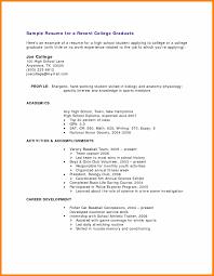 Resume Builder High School Stu Best Resumes