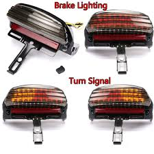 Heritage Softail Rear Light Bar Us 62 99 Smoke Tri Bar Fender Led Tail Light With Turn Signal Bracket For Harley Softail In Covers Ornamental Mouldings From Automobiles