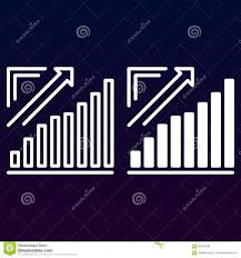 Full Sign Chart Growing Chart Arrow Graph Going Up Line And Solid Icon