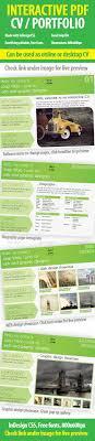 interactive cv portfolio pdf indesign template by vrbic interactive cv portfolio pdf indesign template portfolio brochures