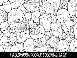 Printable Coloring Pages Halloween Doodle Coloring Page Printable