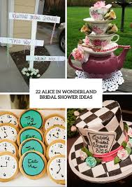 fairy alice in wonderland themed bridal shower ideas