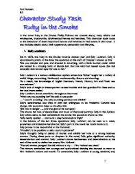 character studies in the ruby in the smoke gcse english marked page 1