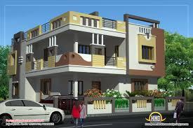 dd antonio design home  Duplex House Plan and Elevation   Sq    Duplex House elevation view   Sq  Ft    Sq M  Floor Plans