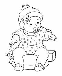 Baby Sitting On Mouse Pillow Coloring Page Baby Sitting On Mouse