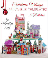 christmas village house templates to print diy paper 5 christmas village house templates to print diy paper similar to the nostalgic