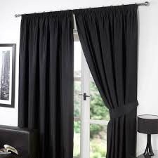 dreamscene thermal pencil pleat pair of blackout curtains tiebacks ready made