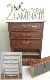 laminate furniture makeover. How-To-Paint-Laminate---2-Ways Laminate Furniture Makeover