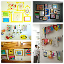 Childrens Artwork Display Make A Childrens Art Gallery Creative Party Themes And Ideas
