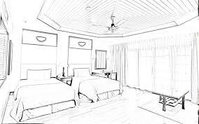 Great Cool Interior Design Bedroom Sketches 9