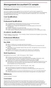 Resume Format For Finance Jobs Management Accountant Sample Resume