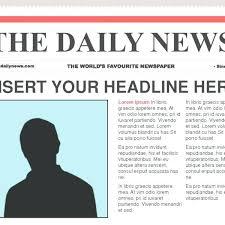 Newspaper Report Template Microsoft Word 4 Blank Newspaper Template Word Report Examples With Regard
