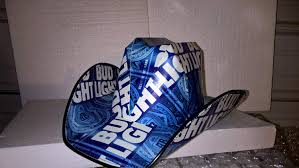 Bud Light Box Cowboy Hat Beer Box Hat Made From Recycled Bud Light Beer Boxes Amazon