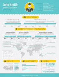 Infographic Technology Resumes Infographic Resume Template 1